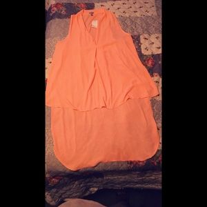 Peach High-Low Dress Shirt